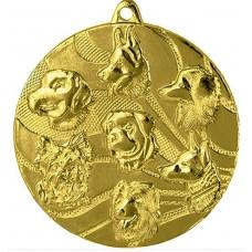 Медаль MMC3150 собаки, диаметр 50мм