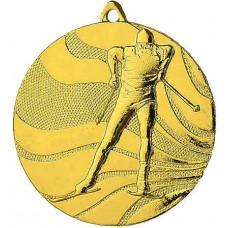 Медаль MMC3350 лыжи, диаметр 50мм