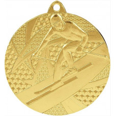 Медаль MMC 8150 лыжи, диаметр 50мм