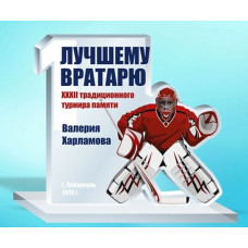 Награда из акрила А3 хоккей