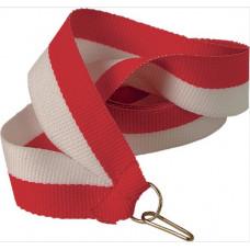 Лента для медали бело-красная (W/R)