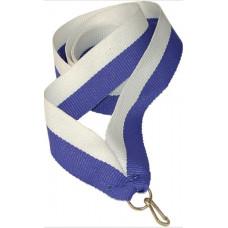 Лента для медали бело-синяя (W/BL)