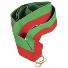 Лента для медали зелено-красная (GN/R)