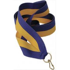 Лента для медали желто-синяя (Y/BL)